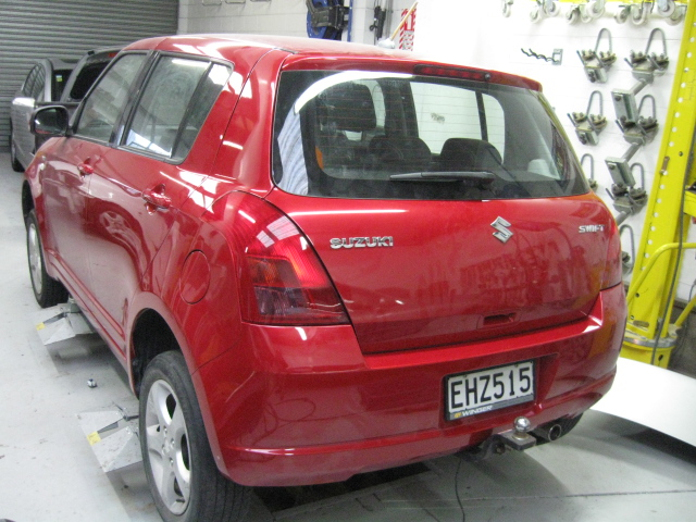 Red Suzuki Swift